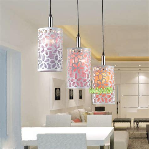 hanging lights for living room modern hollow flower pendant lights suspension l