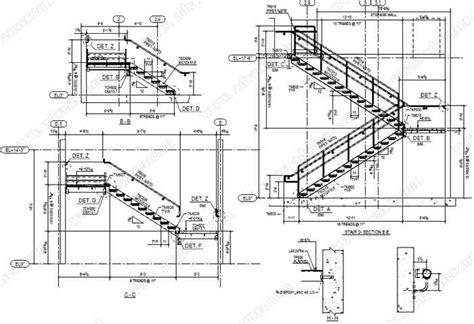 Steel Stair Details Drawings