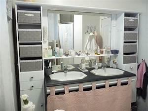 Relooker Meuble Salle De Bain : relooking salle de bain esprit shabby ~ Melissatoandfro.com Idées de Décoration