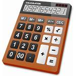 Calculator Icon Vector Clipart Brown Svg Gray