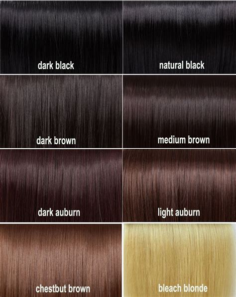 Different Shades Of Black Hair Color by Shades Of Brown Hair Colour Chart