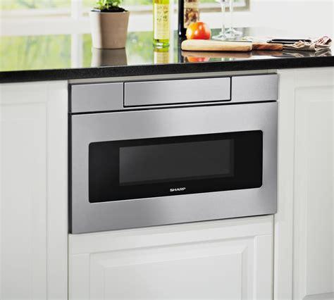sharp smdas   microwave drawer  easy touch hidden control panel sensor cook