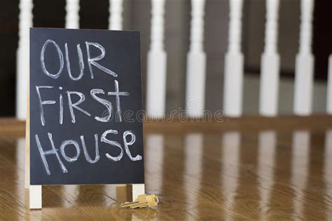 Our First House Sign With Keys Stock Image  Image 65271131