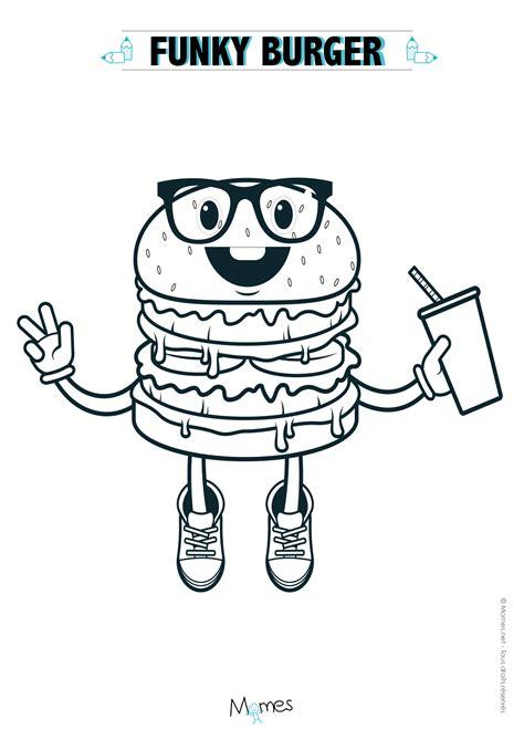 coloriage hamburger à imprimer momes