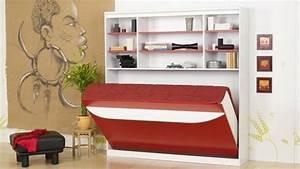 Lit Double Escamotable Ikea : lit escamotable rouge blanc 600 337 faire une chambre d 39 amis pinterest ~ Melissatoandfro.com Idées de Décoration