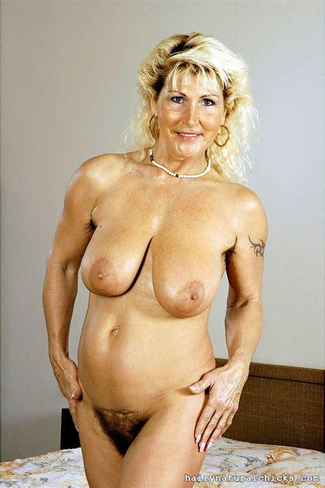 Big Tits Older Woman Renate Likes It In Her Bushy Pussy