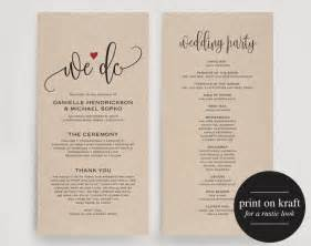 invitation programs wedding program editable template we do wedding program
