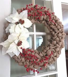 Burlap Bubble Holiday Wreath   Holiday Sparkle   Pinterest
