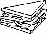 Sandwich Clip Clipart Drawing Half Line Sandwiches Pizza Triangle Outline Cartoon Transparent W2 Objects Cliparts Jelly Vector Clipartpanda Clker Library sketch template