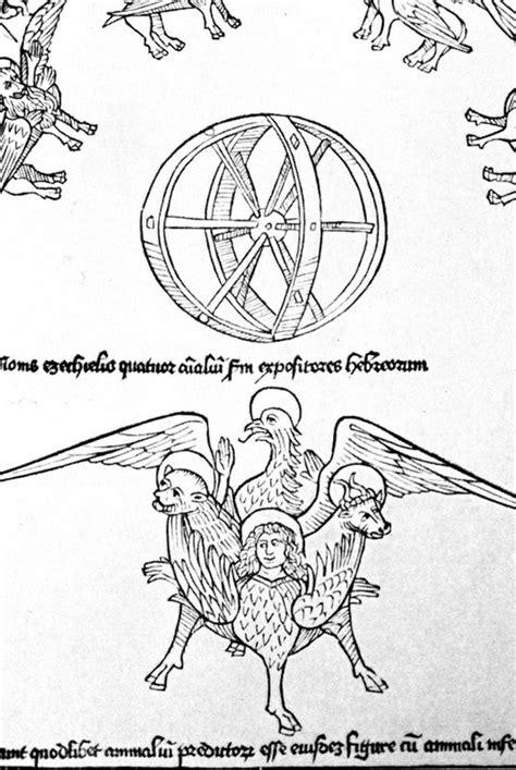 Biblia Latina with commentary of Nicholas of Lyra: Ezekiel`s visionEzekiel`s vision of the