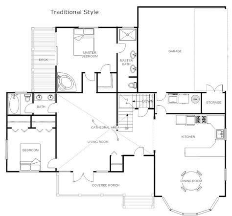 floor plans traditional floor plan  smartdraw