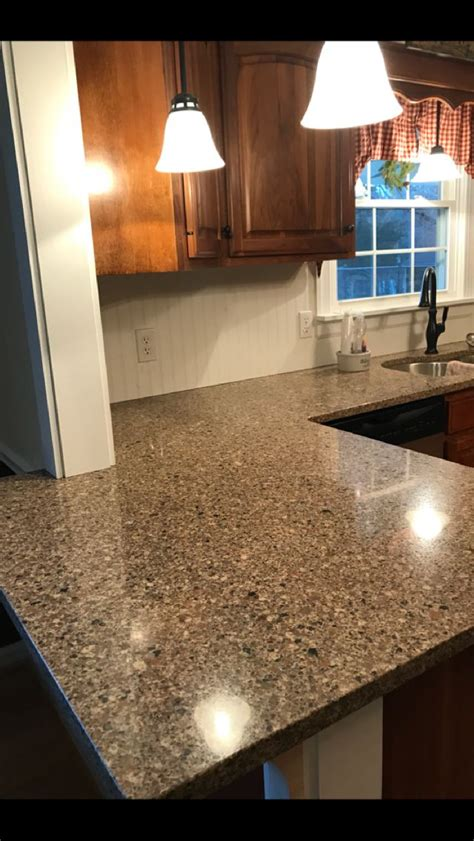 silestone sienna ridge quartz walnut cabinets bead board