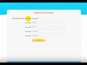 How To Create Php Registration Form   Sign Up Form  Using