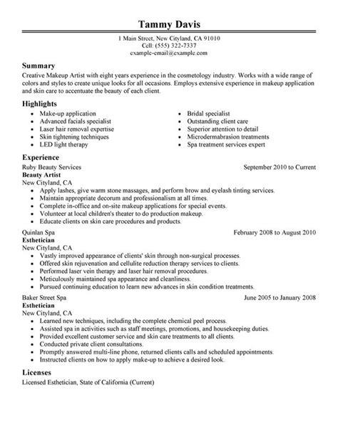 sample esthetician resume  samplebusinessresume