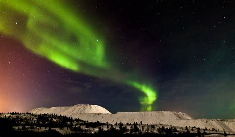dazzling northern lights from solstice solar