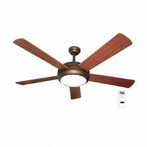 Harbor breeze ceiling fan with light and remote : Harbor breeze aero in bronze downrod mount ceiling