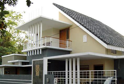 trend model rumah  atap miring modern