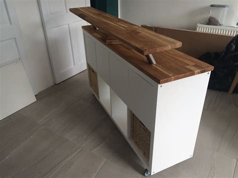 Bar Für Küche Ikea by Ikea Hack Kitchen Island Breakfast Bar Kallax On Heavy