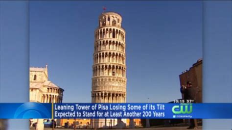 researchers leaning tower  pisa losing