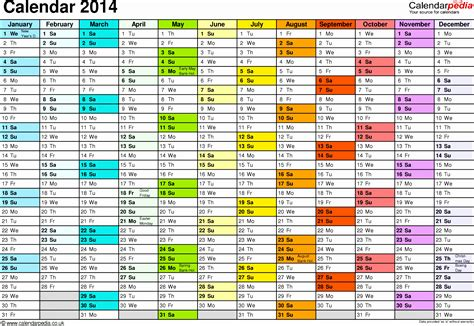 3 Month Calendar Template 2014 by 7 Monthly Calendar Excel Template 2014 Exceltemplates