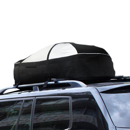 lohas home 15 cubic roof top cargo rack waterproof car roof storage bag oxford soft shell