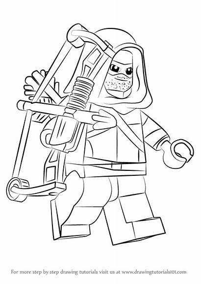 Lego Arrow Draw Drawing Step Tutorials Getdrawings