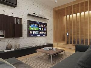 White brick accent wall interior design ideas for Accent wall designs