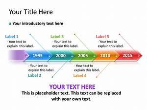 Powerpoint Slide - Timeline Diagram 3d - Multicolor