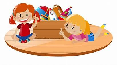 Toys Playing Clipart Floor Children Vector Graphics