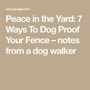 Best 25 dog proof fence ideas on pinterest invisible for Dog proof material