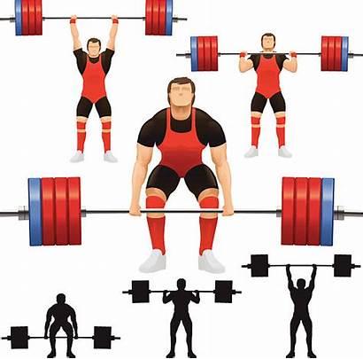 Weight Clean Weights Jerk Vector Weightlifting Illustration