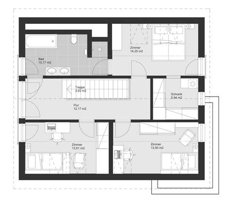 Grundriss Mit Gerader Treppe by Einfamilienhaus Grundriss Obergeschoss Gerade Treppe 5