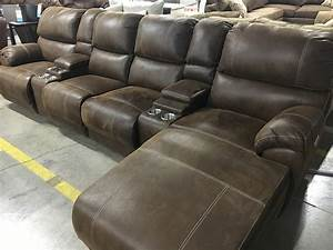 empire chaise powered reclining sectional sofa with With sectional sofa massage recliner