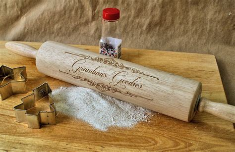 Personalized Rolling Pin Gifts For Grandma Engraved Wooden