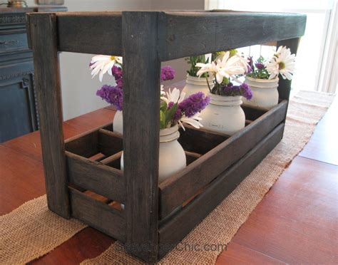 wooden caddy  bed slats  repurposed life