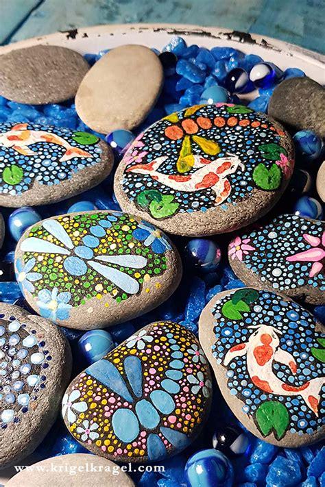 steine bemalen mit acrylfarbe diy dekoidee steine bemalen die im dunkeln leuchten krigelkragel