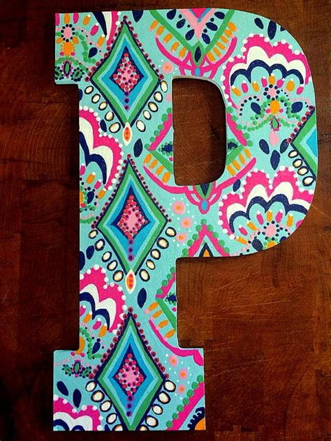 painted wooden letters 13 painted wooden letters by thepaintedmonogram on