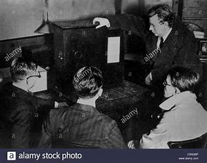 The Inventor Of Television John Logie Baird In A Public