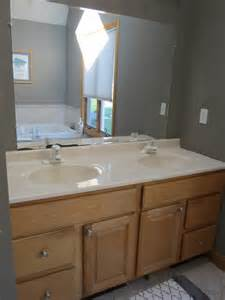 updating bathroom vanity mirror and lighting