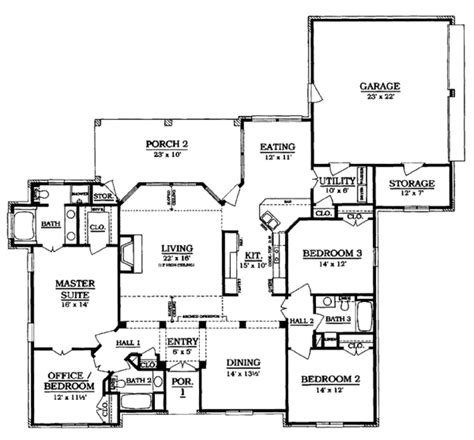 what is a galley kitchen country style house plan 4 beds 3 baths 2098 sq ft plan 8938