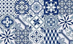 tapis vinyle carreaux de ciment ginette bleu With carreau ciment bleu