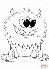 Coloring Monster Pages Cartoon Printable Drawing Styles sketch template