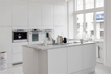 cocina nordica blanca moderna  sin adornos blog