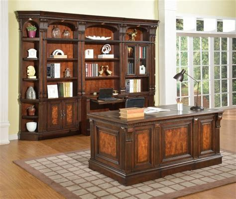 Office Desk With Bookcase by Corsica 6 Home Office Bookcase Library Wall In
