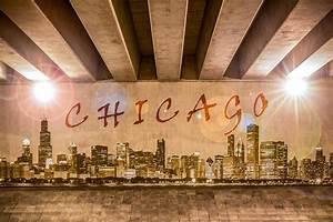 Chicago Graffiti Skyline Photograph by Semmick Photo