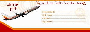Airline gift certificate template free gift certificate for Flight ticket template gift
