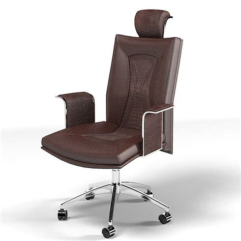 slipcovered swivel chair smania office chair 3d model 2326