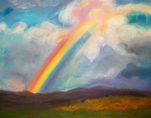 Somewhere Over The Rainbow Painting by Anne Cameron Cutri