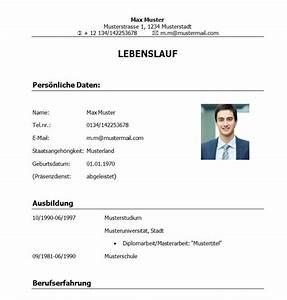 Lebenslauf vorlage student absolvent for Bundeswehrzeit im lebenslauf