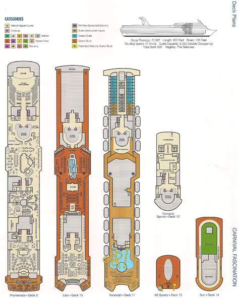Carnival Fascination Deck Plans Empress by Decks Carnival Fascination Deck Plan